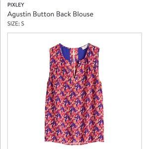 Pixley Agustin button back blouse